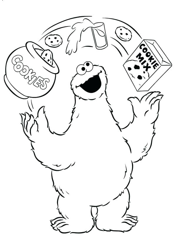 595x842 Cookie Monster Coloring Pages Cute Monster Coloring Pages Cookie