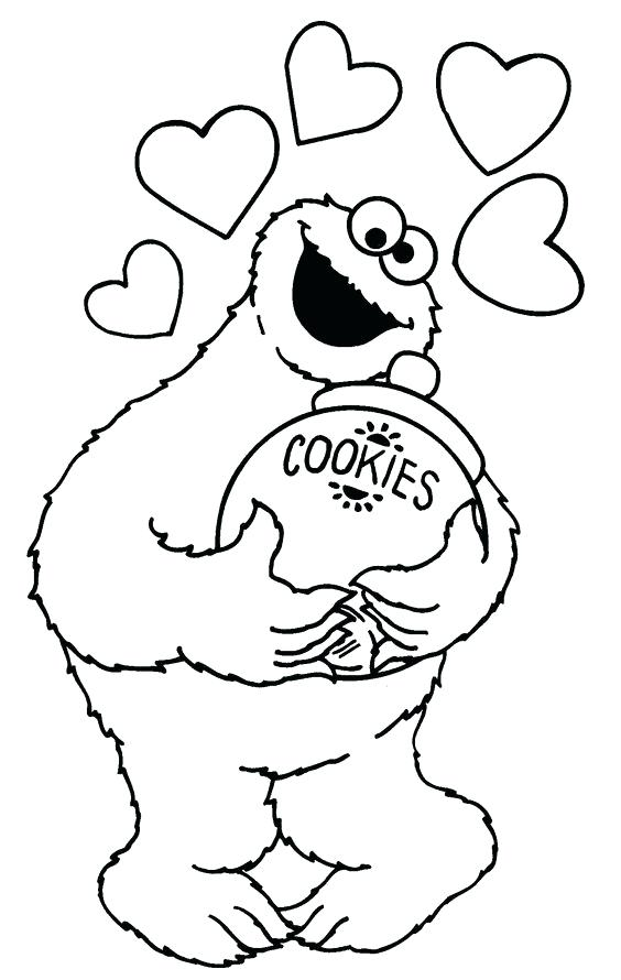 564x890 Cookies Coloring Pages Cookie Monster Coloring Sheets Milk