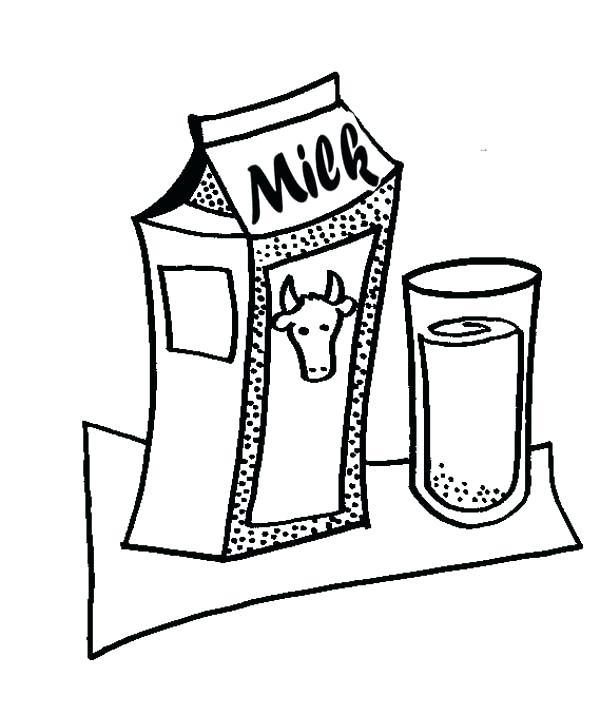 600x715 Milk Coloring Page Best Of Cookie Coloring Page Pictures A Plate
