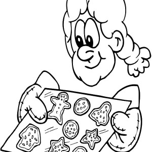 300x300 Mrs Claus Baking Cookies And Glass Of Milk Coloring Pages Best