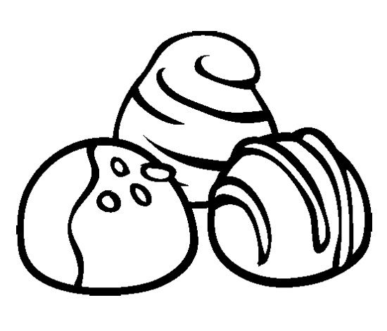 550x470 Chocolate Truffles Cookie Coloring Page Cookie