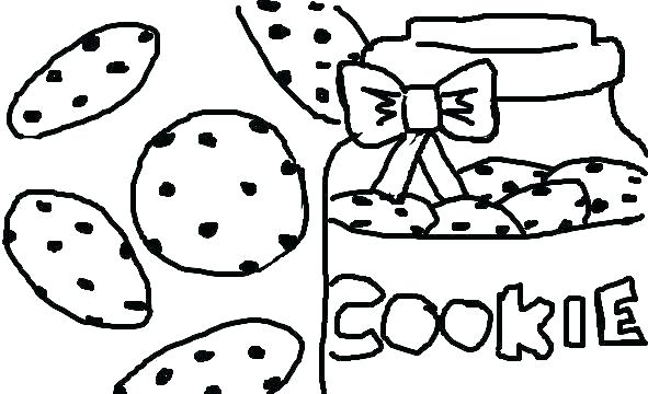 591x360 Cookie Coloring Pages Monster Cookie And Big Cookies Coloring