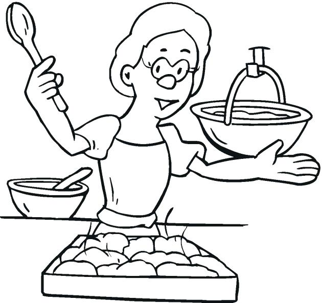630x593 Cooking Coloring Page Cooking Utensils Coloring Pages Technolife