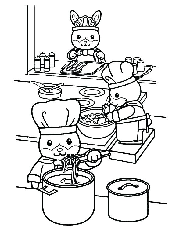 600x769 Cooking Coloring Pages Boy Eating The Whipped Cream Coloring Page