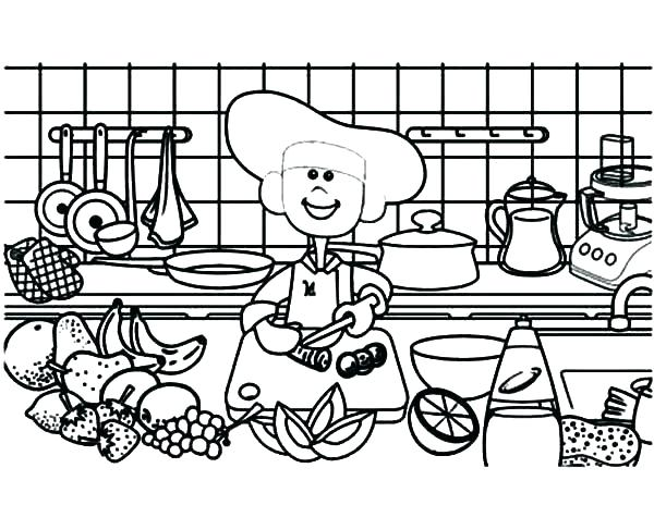 600x464 Cooking Coloring Pages Cooking Coloring Pages Also Cooking Cooking