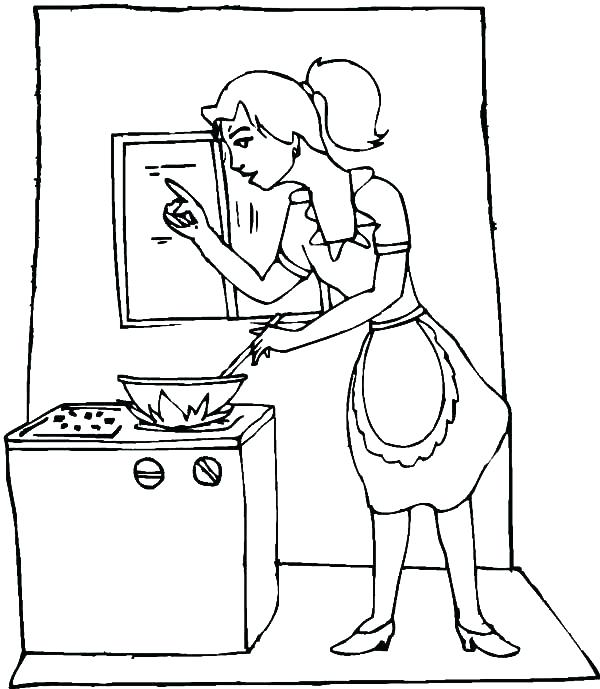 600x689 Cooking Coloring Pages Cooking Coloring Pages Also My Mom Is