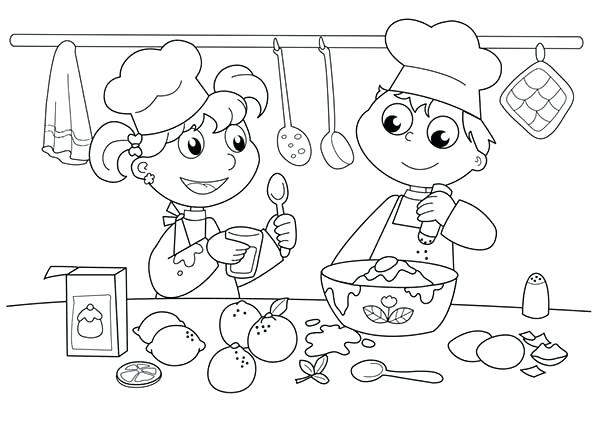 600x430 Kitchen Coloring Pages Food Safety Coloring Pages