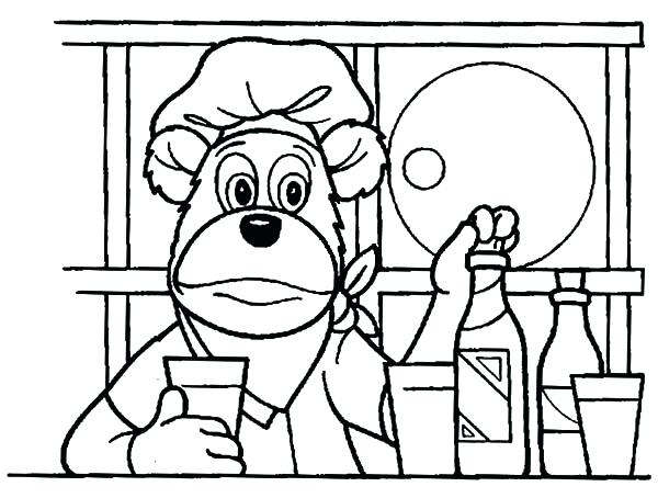 600x454 Kitchen Coloring Pages The In The Kitchen Coloring Pages Kitchen