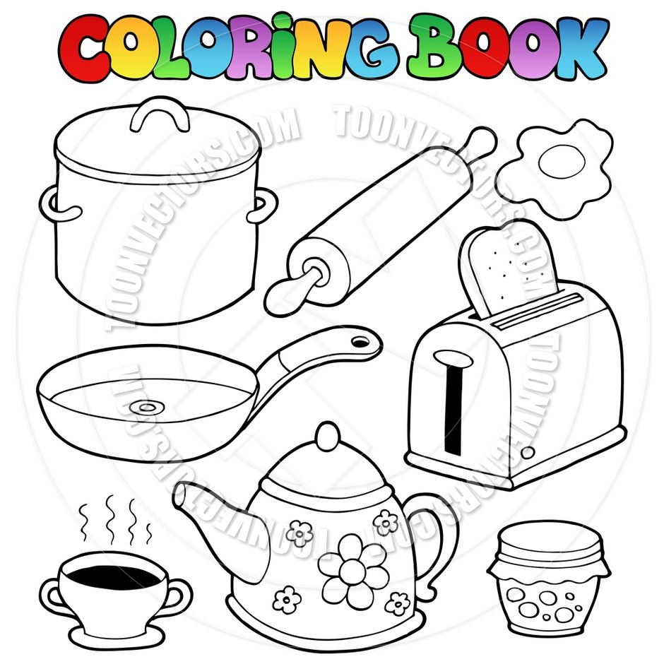 940x940 Kitchen Items Colouring Pages Coloring Other