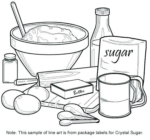 480x450 Coloring Pages Of Kitchen Items