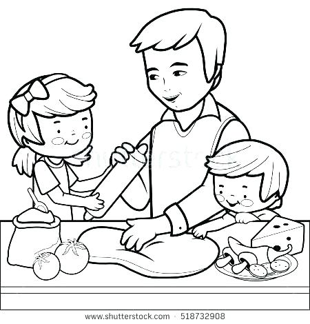 450x470 Cooking Coloring Page Cooking Coloring Page Cooking Class Coloring