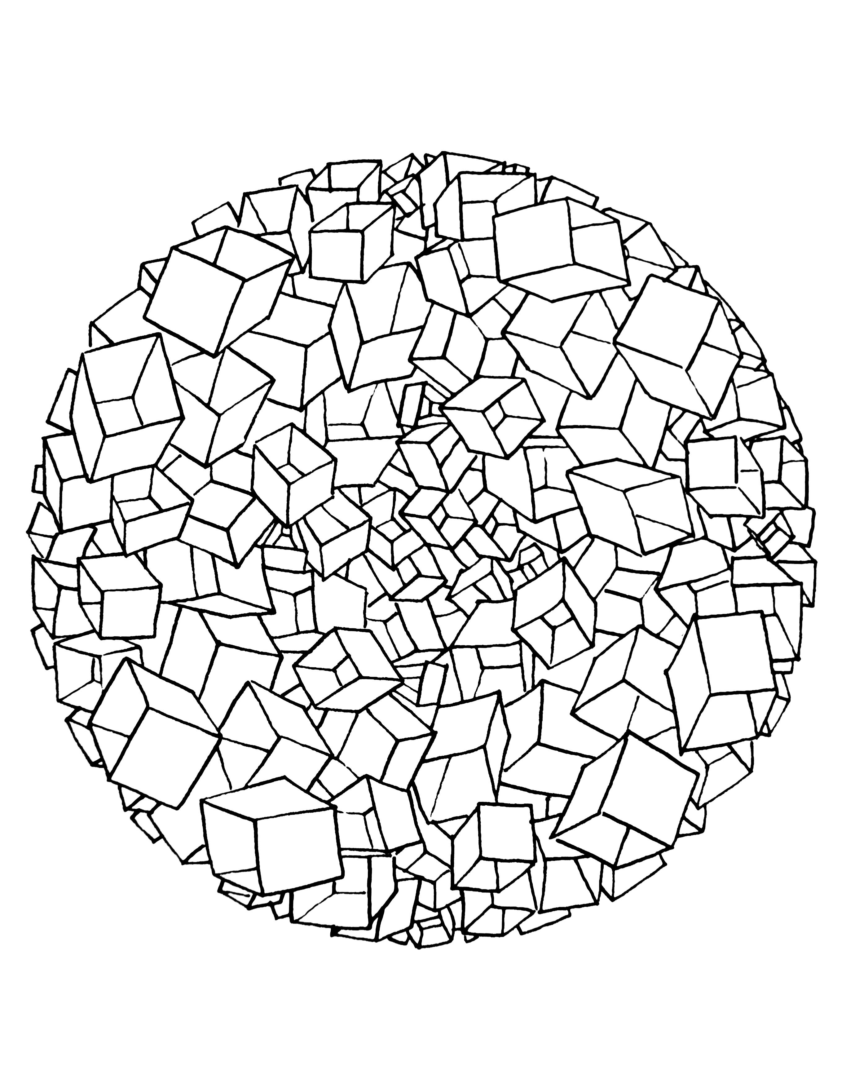 2759x3452 Free Coloring Page Free Mandala To Color Cubes It's Look Like