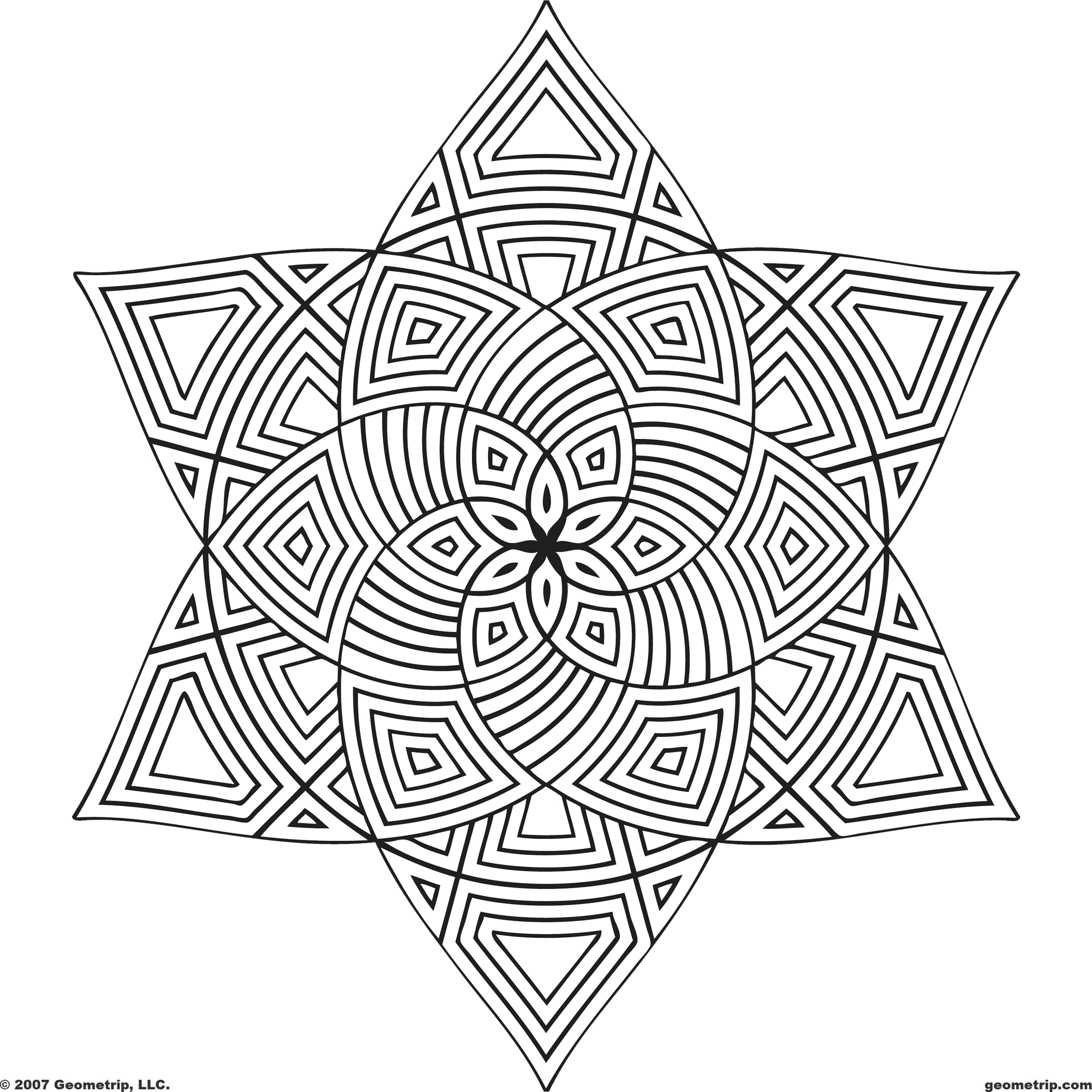 2250x2250 Geometric Design Coloring Pages Designs Page Free Art Printable