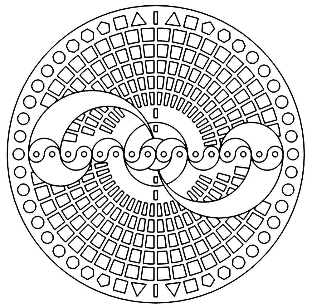 1000x987 Mandala Para Colorir Mandalas Mandala, Mandalas