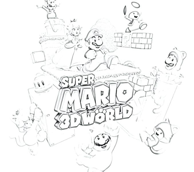 678x600 Mario World Coloring Pages Mario World Coloring Pages World