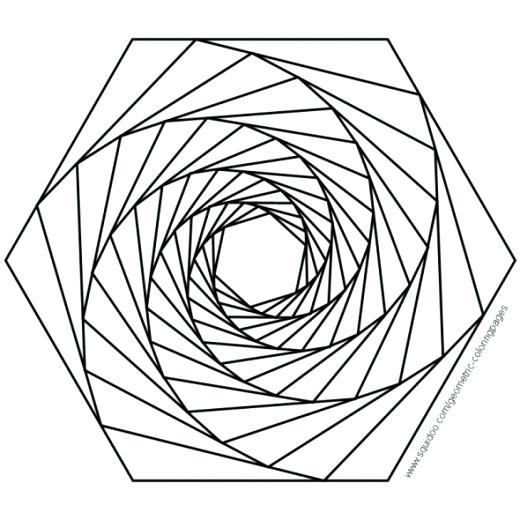 520x520 Coloring Pages Geometric Design Coloring Pages Coloring