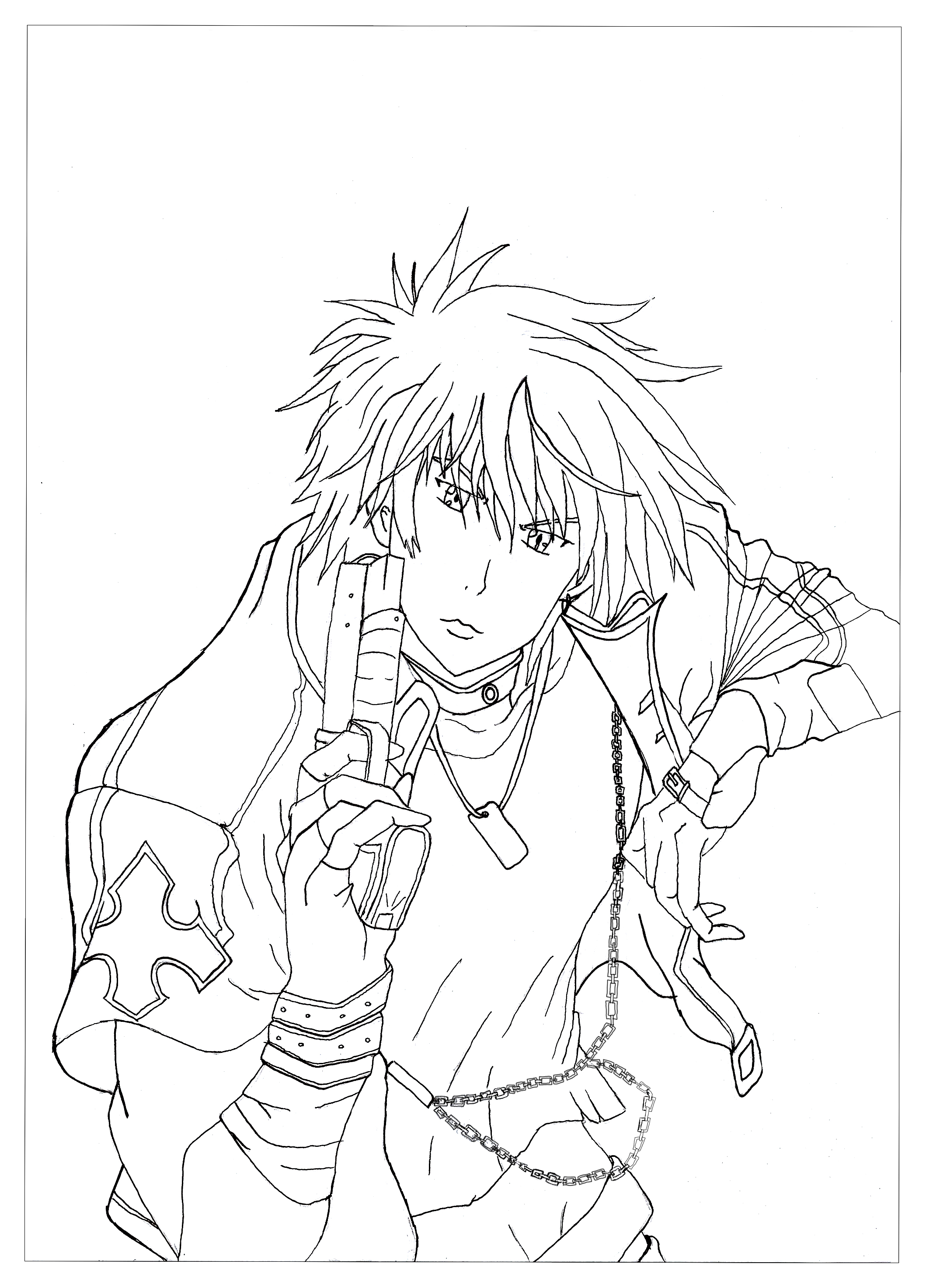 Cool Anime Coloring Pages at GetDrawings | Free download
