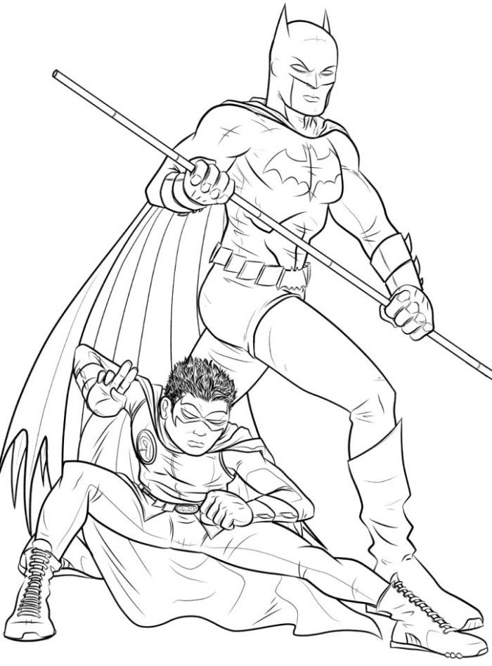 700x947 Batman And Robin Coloring Pages