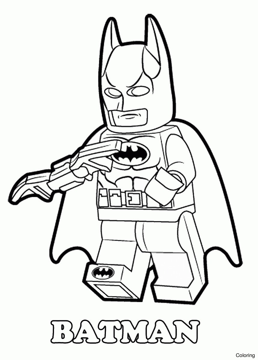 860x1200 Cool Free Lego Batman Coloring Pages