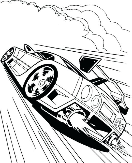 537x663 Cool Car Coloring Pages Cool Race Car Turbo Coloring Page Race Car