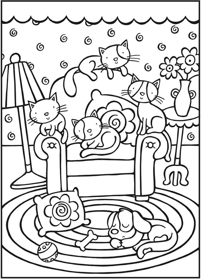 Cool Cat Coloring Pages