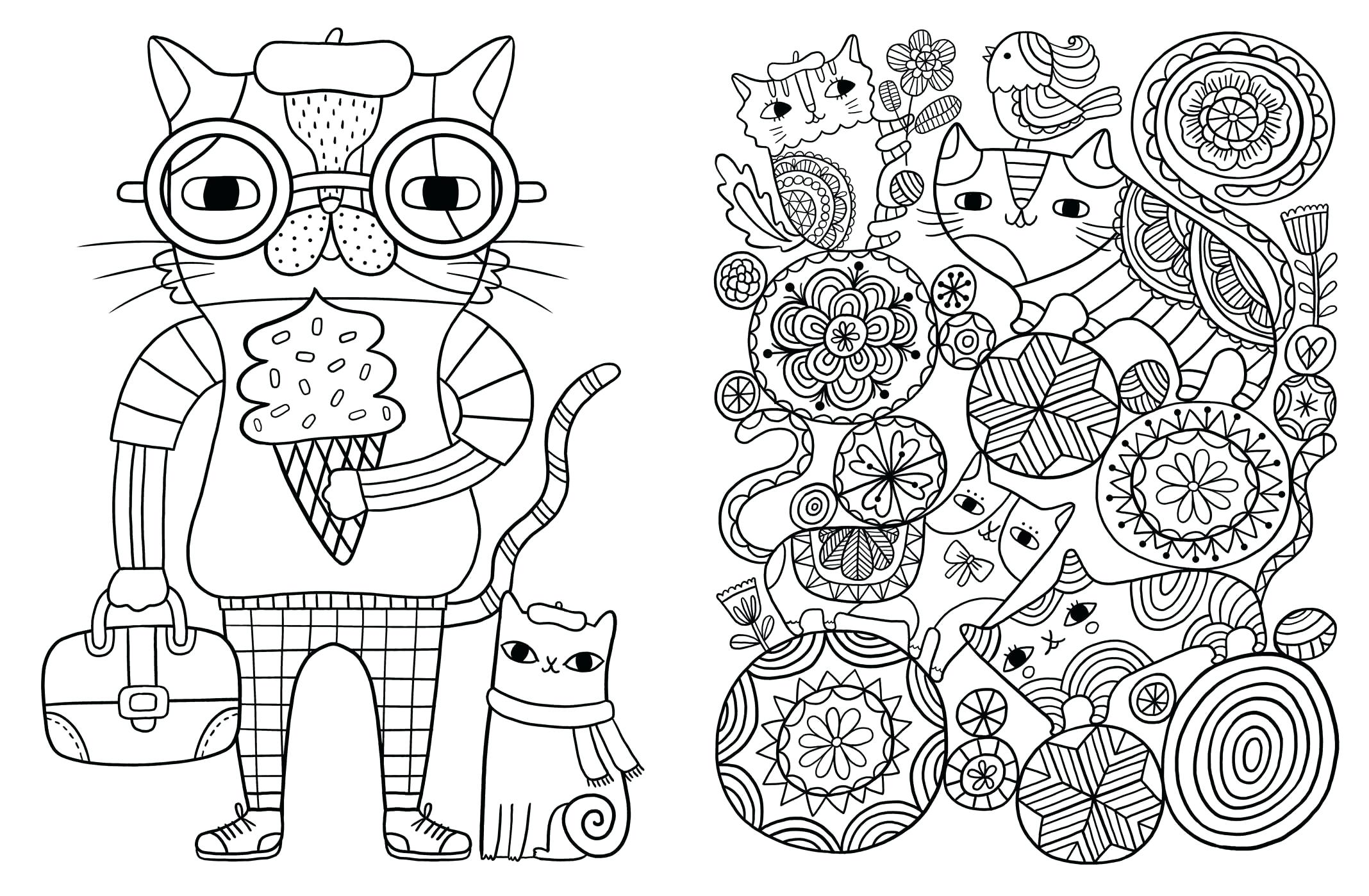 2136x1399 Cat Coloring Page Free Printable Pages Kitten Click The To View