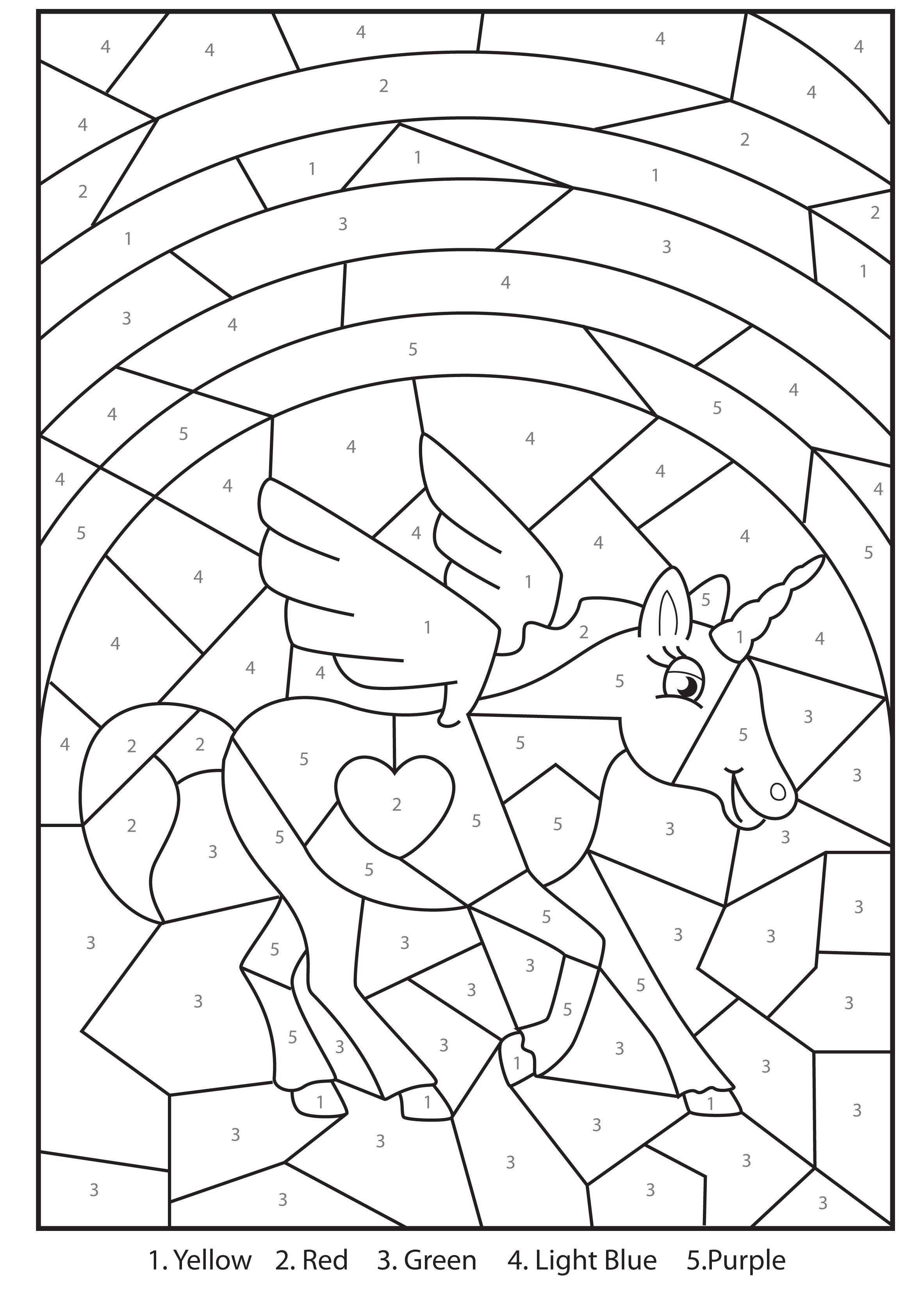2315x3372 Free Printable Magical Unicorn Colour