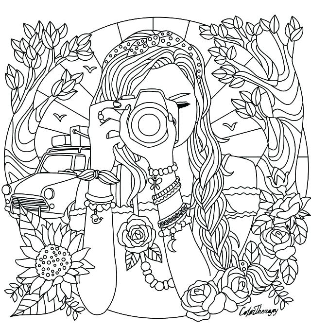 640x675 Popular Teenage Girl Coloring Pages New For Girls On Print Popular