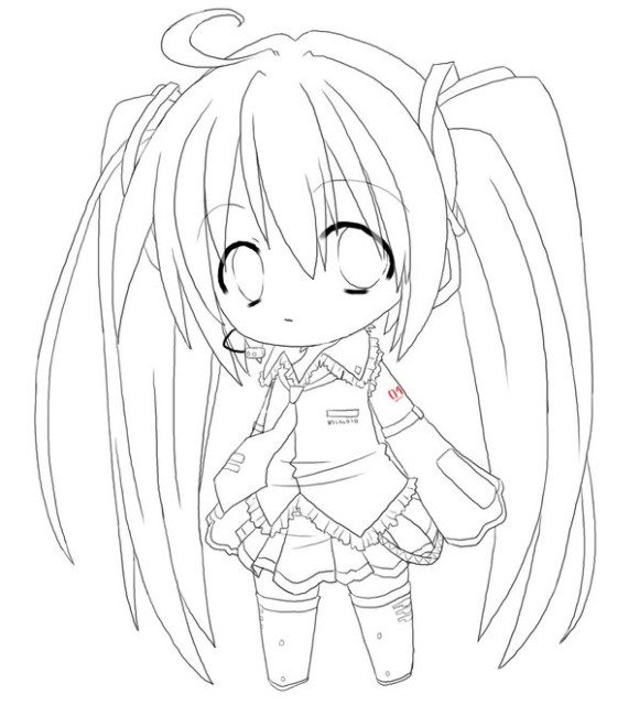 580x650 Cool Anime Coloring Pages Anime Girl Coloring Pages Charming