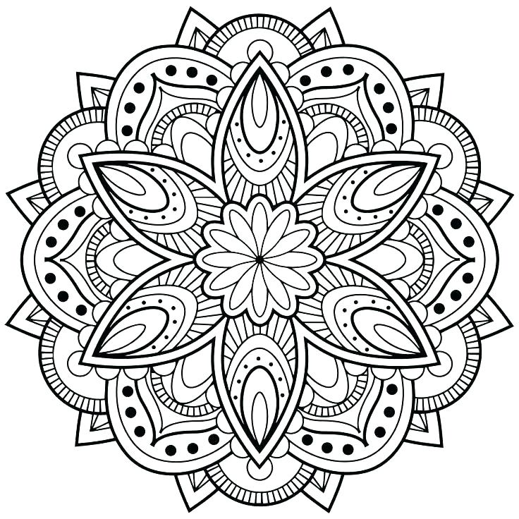 736x736 Printable Coloring Mandalas Printable Coloring Pages For Adults