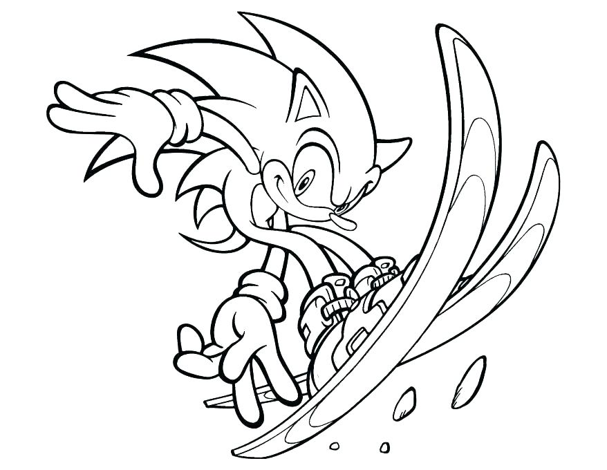 878x680 Sonic Coloring Pages Printable Sonic Coloring Pages Coloring Pages