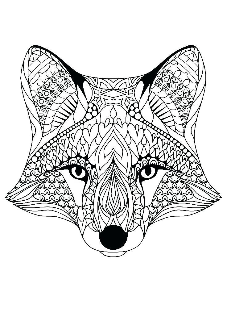 736x1040 Fox Coloring Pages Coloring Coloring Pages For Teenage Girl Plus
