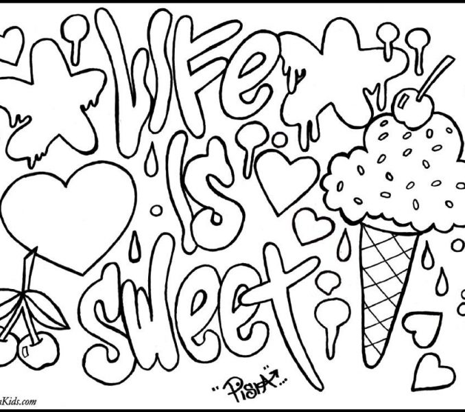 678x600 Cool Coloring Sheets Teenagers Printable Coloring Pages