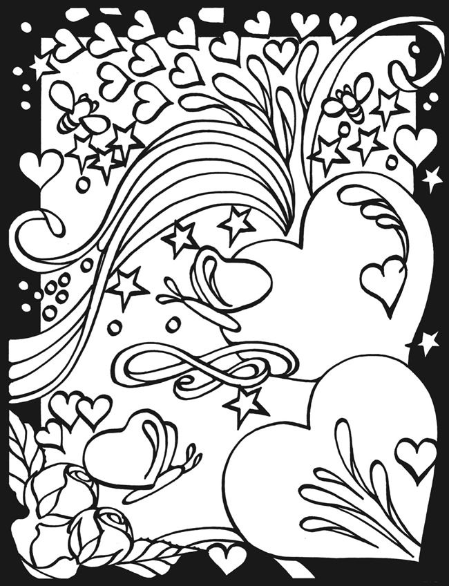 Cool Coloring Pages Of Hearts