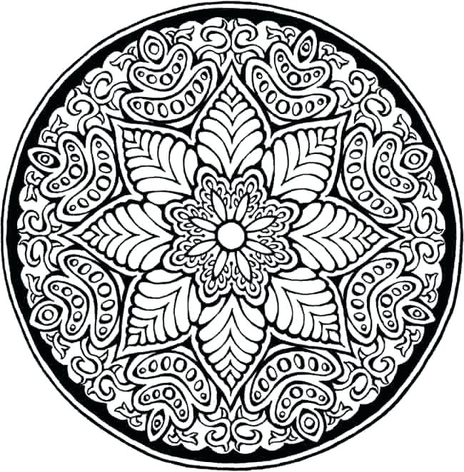650x662 Cool Design Coloring Pages Floral Pattern Coloring Pages Coloring