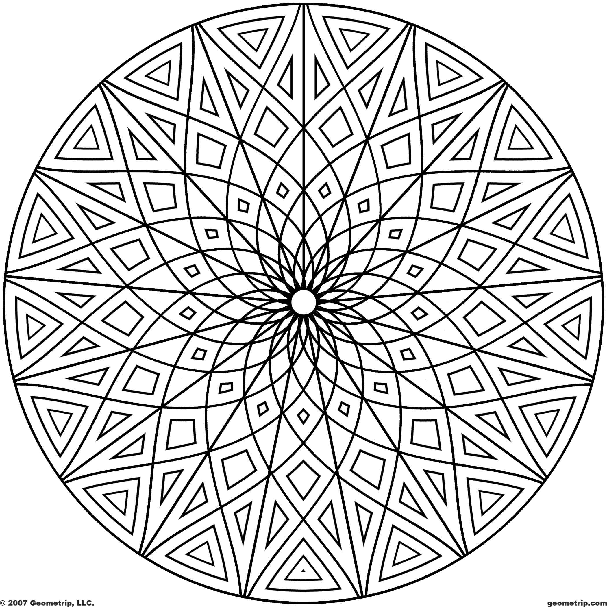 2100x2100 Free Printable Geometric Coloring Pages For Kids To Print