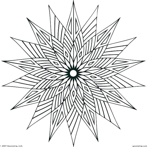 618x618 Geometric Design Coloring Pages Geometrical Design Coloring Book