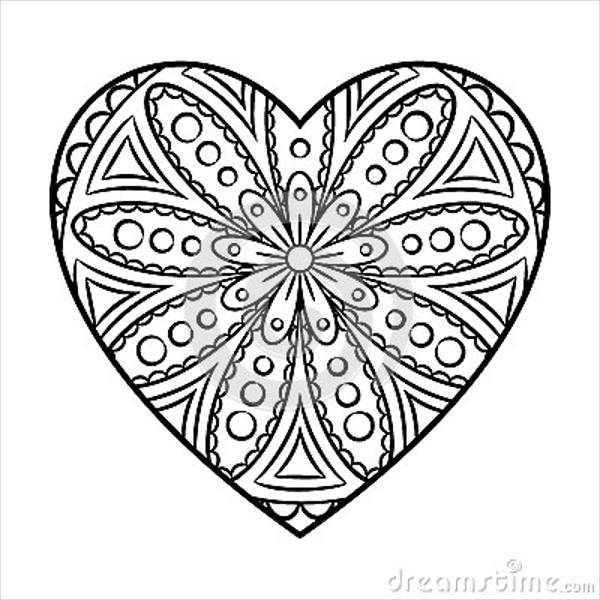 600x600 Heart Design Coloring Pages Cool Heart Design Coloring Pages Color