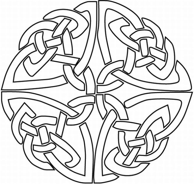 665x631 Celtic Knot Coloring Pages
