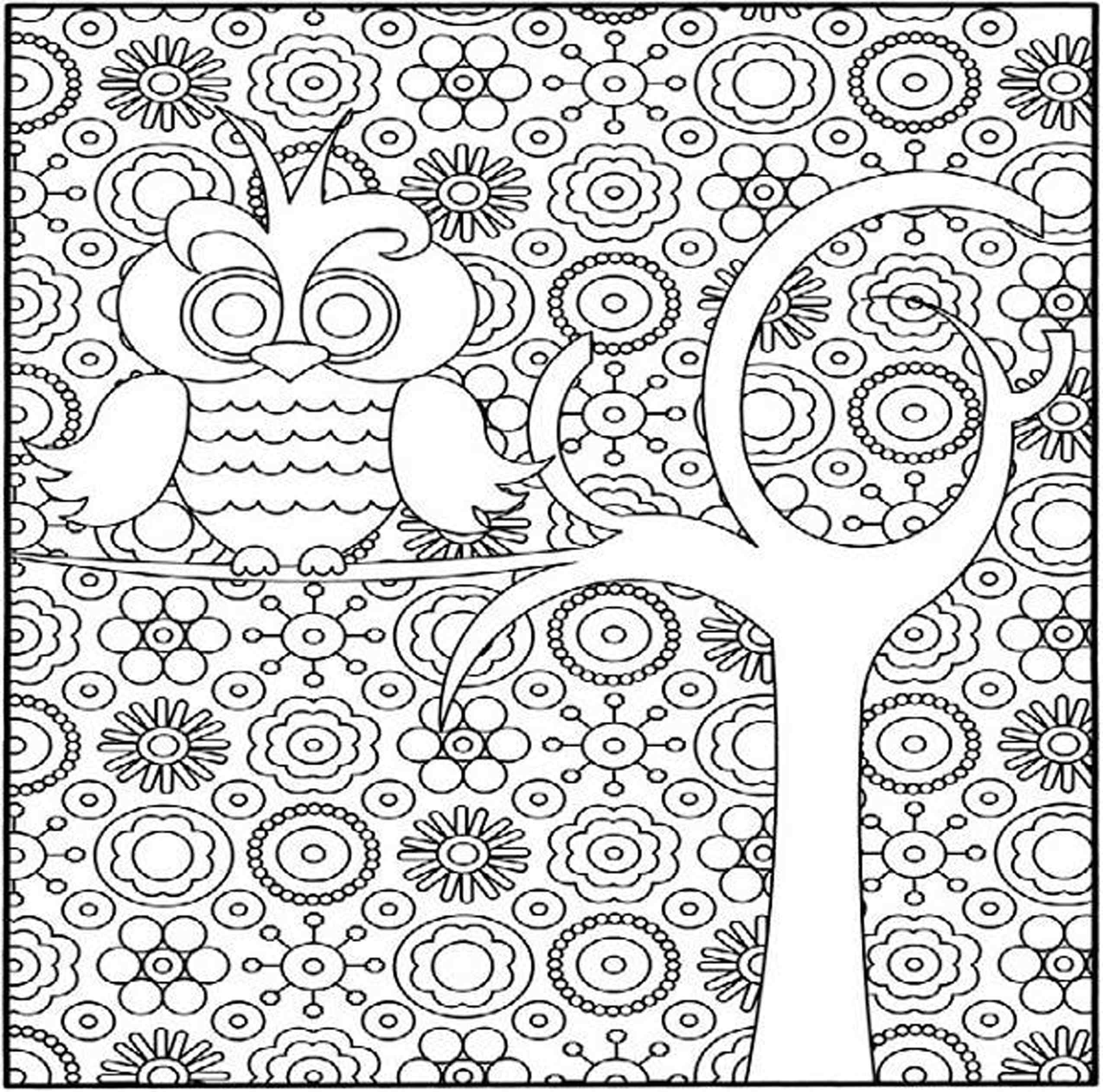 2550x2525 Cool Detailed Flower Coloring Pages To And Print For Free Free