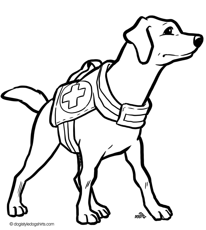 cool dog coloring pages 21