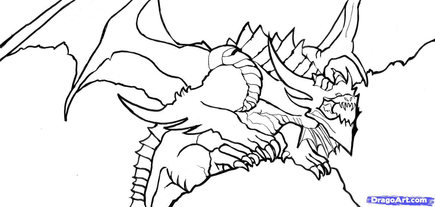 Cool Dragon Coloring Pages at GetDrawings | Free download
