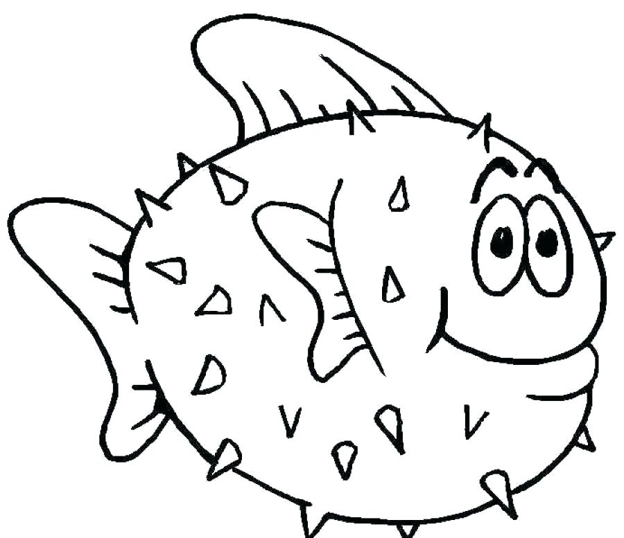 900x777 Trout Fish Coloring Pages Deepart