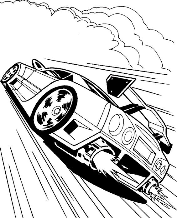 565x698 Cool Race Car Turbo Coloring Page