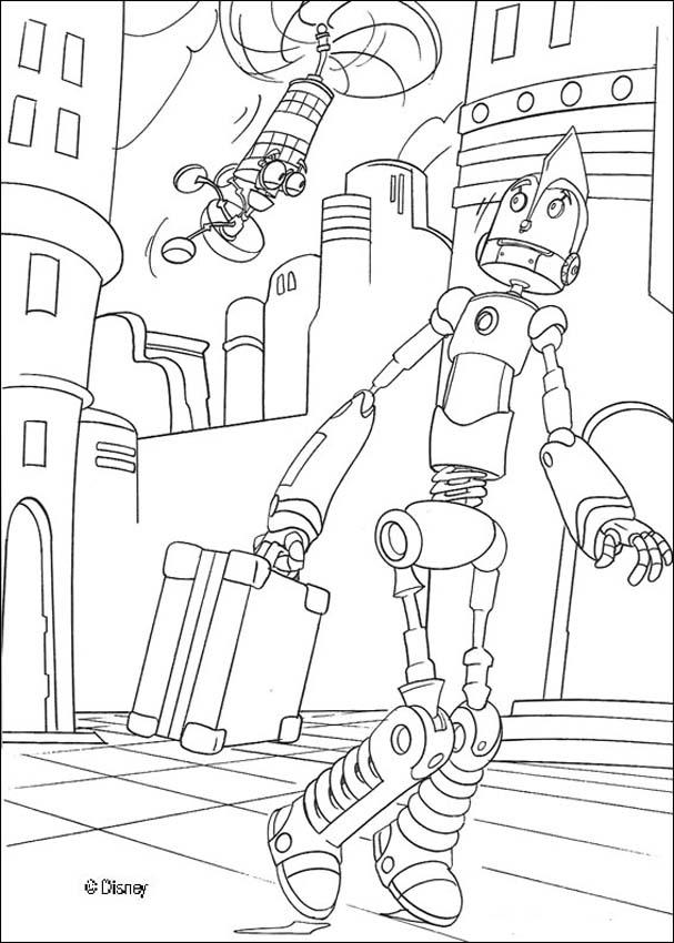 607x850 Robots Coloring Pages