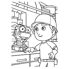 230x230 Cute Free Printable Robot Coloring Pages Online