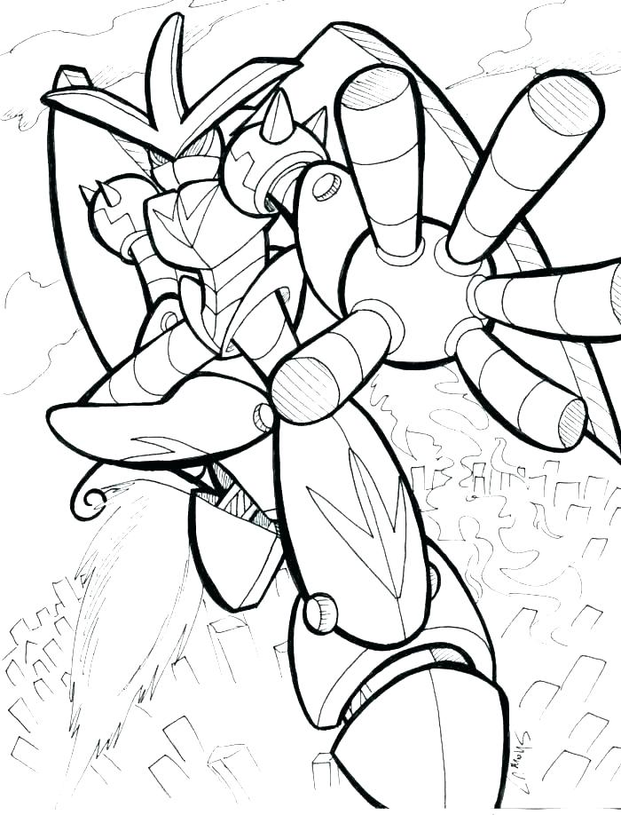 700x918 Robot Coloring Page