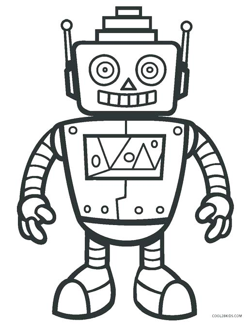 516x670 Robot Coloring Pages To Print Robot Coloring Pages Free Printable