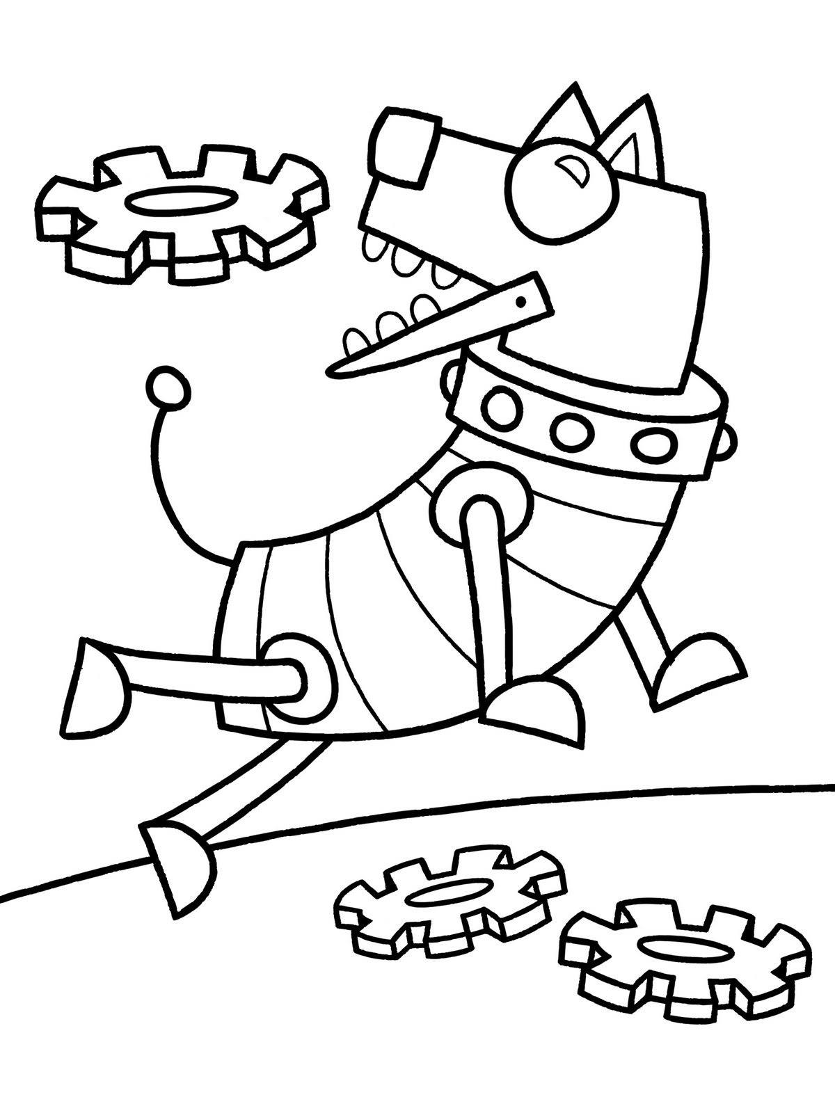 1200x1600 Robot Dog Printable Coloring Page Robots In Pages