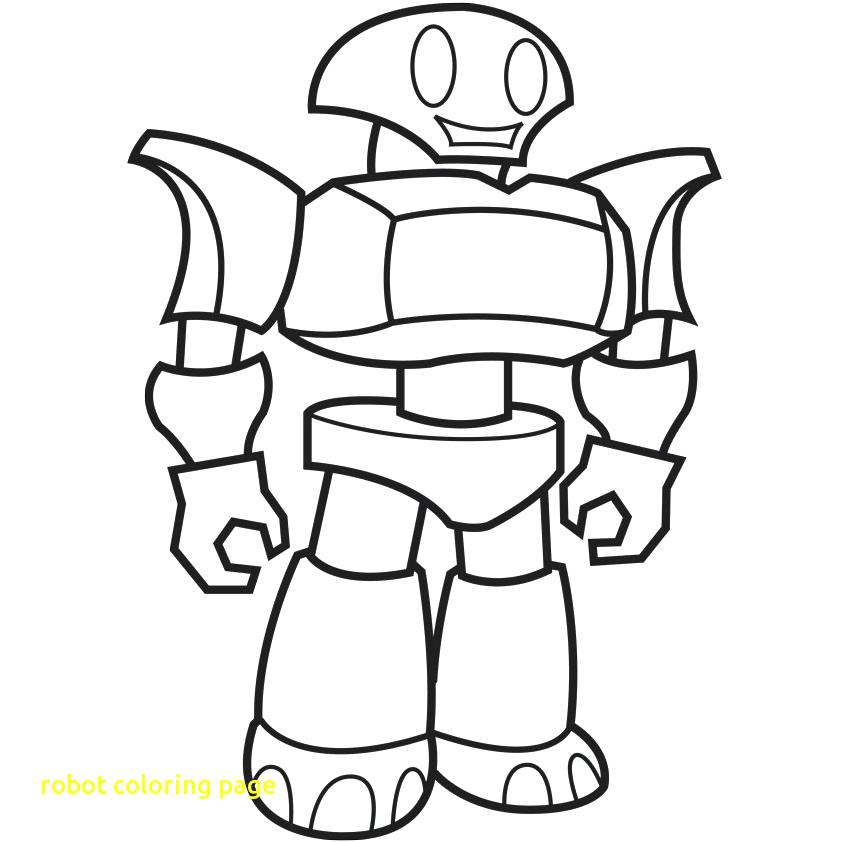 842x842 Robot Coloring Page